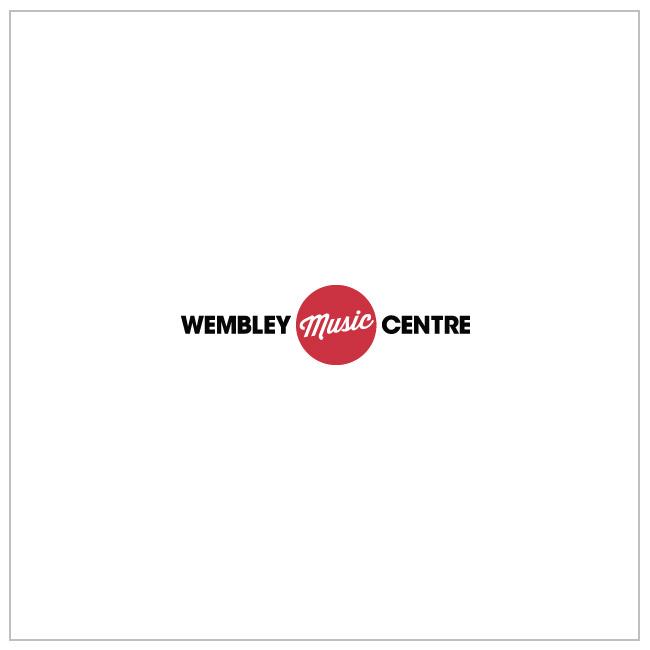 DW Bass Drum Logo Sticker / White