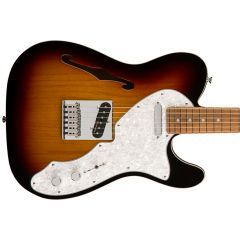 Fender Deluxe Telecaster Thinline PF Electric Guitar - 3 Tone Sunburst  - Main