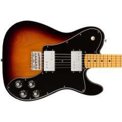 Fender Vintera '70s Telecaster Deluxe Electric Guitar With Maple Neck - 3 Colour Sunburst - Thumb