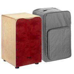 Stagg Medium-sized Cajon With Free Bag - Red - Main