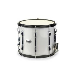 """Stagg 14 x 12"""" Marching Snare Drum - White"""