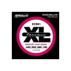D'Addario ECB81 Bass Flatwound Long Scale 45-100