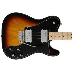 Fender Made in Japan 70s Telecaster Deluxe Electric Guitar With Tremolo - 3 Colour Sunburst - Thumb