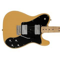 Fender Made in Japan 70s Telecaster Deluxe Electric Guitar With Tremolo - Butterscotch Blonde - Thumb