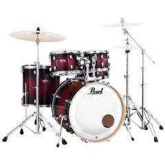 Pearl Decade Maple 5-Piece Kit Including Snare & Hardware - Gloss Deep Red Burst