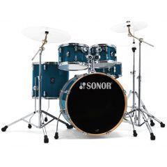 Sonor AQ1 Stage 22'' 5-Piece Drum Kit With Hardware - Dark Blue Sparkle