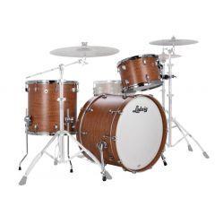 "Ludwig NeuSonic 20"" 3-Piece Drum Shell Pack - Satinwood - Main"