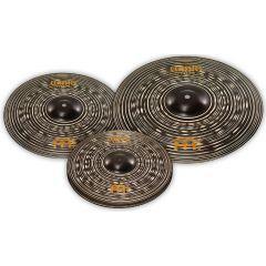"Meinl Classics Custom Dark Cymbal Set - 14"" Hi-Hat - 16"" Crash - 20"" Ride"
