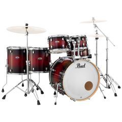Pearl Decade Maple 6-Piece Kit Including Snare & Hardware - Gloss Deep Red Burst