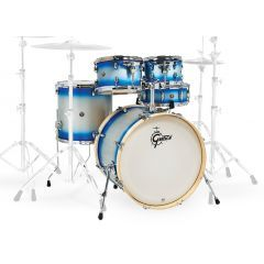 """Gretsch Catalina Limited Edition 20"""" 5-Piece Drum Shell Pack Including Snare - Blue Silver Duco - Main"""