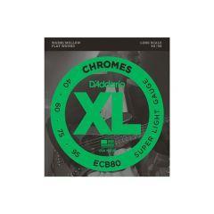 D'Addario ECB80 Chromes Light 40-95 Long Scale Bass Guitar Strings
