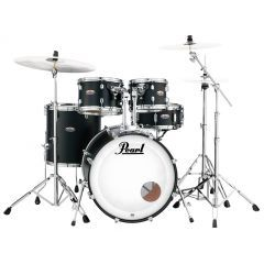 """Pearl Decade Maple 22"""" 5-Piece Kit Including Snare & Hardware - Satin Black - Main"""
