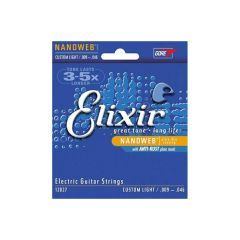Elixir Nanoweb Custom Light Electric Guitar Strings 9-46