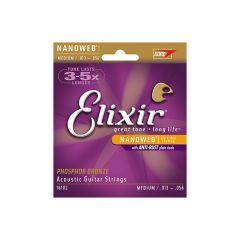 Elixir Nanoweb Phosphor Bronze Acoustic Strings 13-56