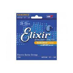 Elixir Nanoweb Medium Electric Guitar Strings