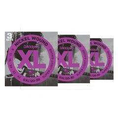 D'Addario EXL120 3 Packs