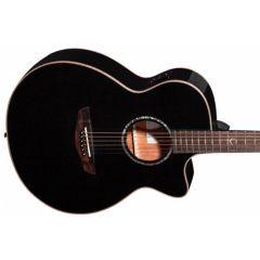 Faith FECV Eclipse Venus Cutaway Electro Acoustic Guitar - Black - Thumb