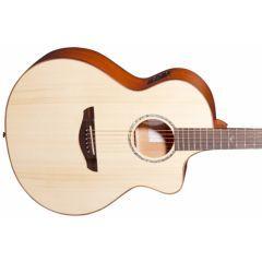 Faith FNCE Natural Neptune Baby Jumbo Cutaway Electro Acoustic Guitar - Main