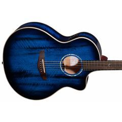 Faith Neptune Blue Moon Cutaway Electro-Acoustic Guitar - Blue Moon Finish - Thumb