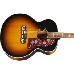 Epiphone J-200 Electro Acoustic Guitar - Aged Vintage Sunburst Gloss - Main