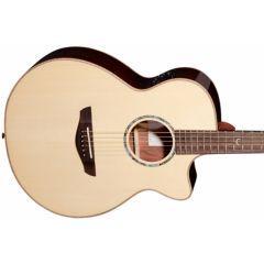 Faith FVHG PERC Venus HiGloss Percussive Electro Acoustic Guitar - Main