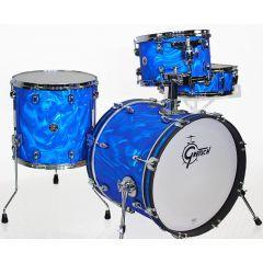 "Gretsch Catalina Club Jazz 18"" 4-Piece Shell Pack - Satin Blue Flame"