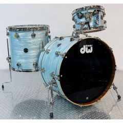 DW Collector's Contemporary Classic 3-Piece Shell Pack - Pale Blue Oyster