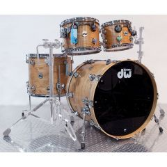 DW Collector's Series Satin Oil 4 Piece Shell Pack - Natural over Cherry