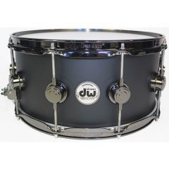 "DW Collector's Maple 14"" x 6.5"" Snare Drum - Matt Black - Main"