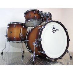 """Gretsch Renown Maple 22"""" 4-Piece Drum Shell Set - Satin Tobacco Burst - Main"""