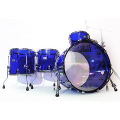 """Pearl Crystal Beat 22"""" 4-Piece Drum Shell Pack - Blue Sapphire - Hero"""