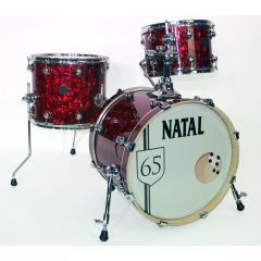 Second Hand Natal Arcadia 65 3-Piece Drum Shell Pack - Red Oyster Wrap - Main