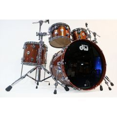 """Second Hand DW Collector's Series 22"""" 4-Piece Drum Shell Pack - Atomic Orange Lacquer"""