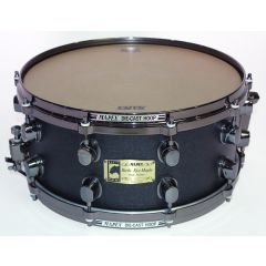 """Pre-Owned Mapex Black Panther BirdsEye Maple 14 x 6.5"""" Snare Drum - Stained Black Burl"""