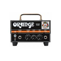 The Orange Micro Dark Guitar Amp Head's new 12AX7-driven high-gain preamp generates amazing dirty distortion which, combined with the same intuitive Shape control that made Orange's mighty Micro Terror amp head such a hit, offers a huge amount of tonal ve