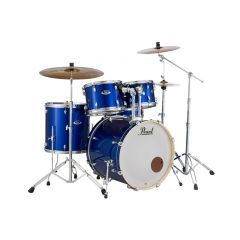 "Pearl Export EXX 22"" Drum Kit With Hardware & Cymbals - High Voltage Blue"