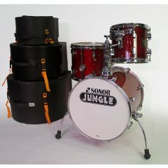 Pre-Owned Sonor Force 3003 Jungle Kit 3-Piece Drum Shell Pack With Cases - Cherry Lacquer Finish