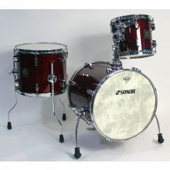 Pre-Owned Sonor Force 3003 Jungle Kit 3-Piece Drum Shell Pack - Cherry Lacquer Finish - Main