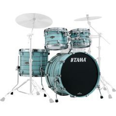 "Tama Starclassic Walnut/Birch 22"" 4-Piece Shell Pack - Arctic Blue Oyster"