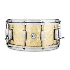 """Gretsch Full Range Hammered Brass 14 x 6.5"""" Snare Drum"""