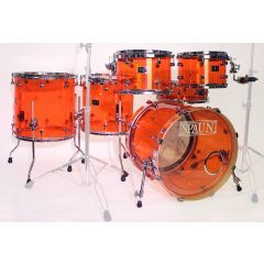 Pre-Owned Spaun Acrylic 6-Piece Drum Shell Pack Including SKB Cases - Main