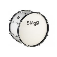 """Stagg 26"""" x 12"""" Marching Bass Drum - White"""