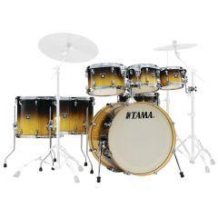 "Tama Superstar Classic Exotix 22"" 7-Piece Drum Shell Pack - Gloss Lacebark Pine Fade - Main"
