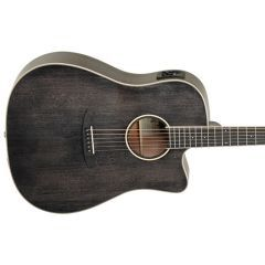 Tanglewood TW5EBS Dreadnought Electro Acoustic Guitar - Black Shadow Gloss