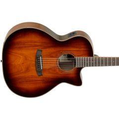 Tanglewood Winterleaf Exotic Cutaway Electro Acoustic Guitar - Tobacco Burst - Thumb