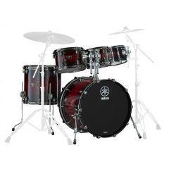 "Yamaha Live Custom Hybrid Oak 22"" 5-Piece Drum Shell Pack - UZU Magma Sunburst - Main"