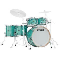 "Tama Starclassic 22"" 5-Piece Walnut/Birch Drum Shell Pack - Surf Green Silk"