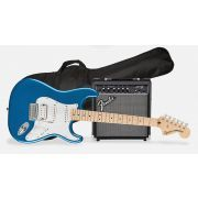 Squier Affinity Stratocaster HSS Electric Guitar Pack - Maple Fingerboard - Lake Placid Blue