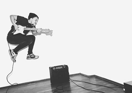 Wembley Music Centre - Guitarist Jumping