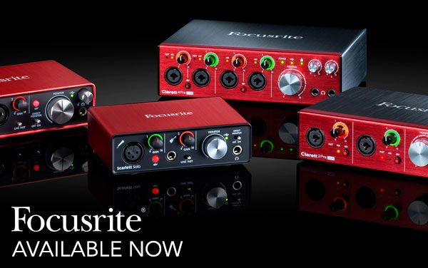 Wembley Music Centre - Focusrite Interfaces